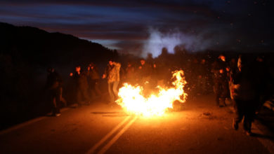 Photo of Greek islanders strike over plans for new migrant camps
