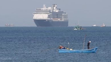 Photo of Cruise ship left in limbo over virus fears finally docks in Cambodia