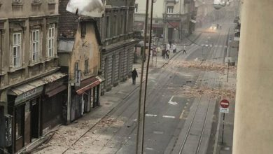 Photo of Old buildings, several churches in Zagreb damaged