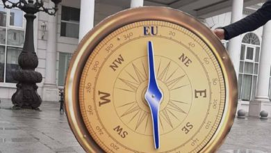 Photo of Guerrilla activism: VMRO-DPMNE got a compass