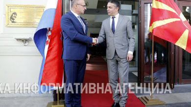 Photo of Croatian FM Grlić Radman pays working visit to North Macedonia