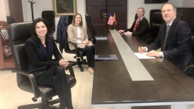Photo of Deputy FM Zhernovski meets U.S. Ambassador Byrnes
