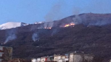 Photo of Fire rages in area near Debar