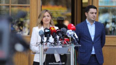 Photo of News conference outside the Finance Ministry after working meeting