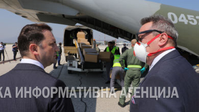 Photo of Czech donation of protective masks arrives in North Macedonia