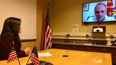 Photo of U.S. Ambassador Byrnes joins online meeting with Health Minister Filipche, WHO's Tawilah over COVID-19 situation