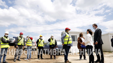 Photo of Spasovski and Carovska oversee construction works in free economic zone Skopje 2 (Bunardzik)