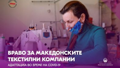 Photo of FinMin Angelovska: PPE exports jumped almost 300%, let's be proud of domestic companies