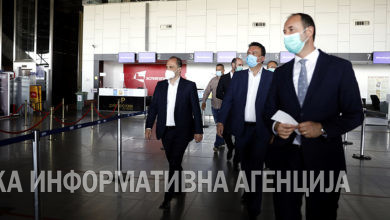 Photo of Ministers visits Skopje International Airport