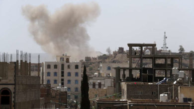 Photo of Saudi-led coalition bombards Yemen's rebel capital