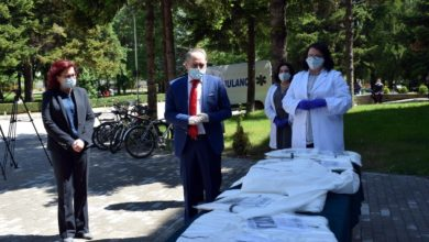 Photo of Bulgarian Embassy donates protective equipment to COVID-19 frontliners in Bitola