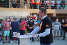 Photo of Mickoski in Probishtip: Vote on July 15 for Macedonia we love