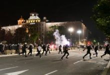 Photo of 71 demonstrators, including several foreigners, arrested in Belgrade