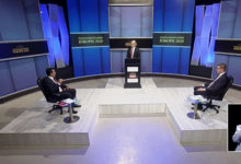 Photo of TV debate: Zaev and Mickoski with opposing views on international treaties, negotiating framework