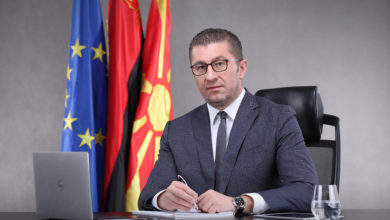 Photo of VMRO-DPMNE's Mickoski to voters: Your vote is vote for change