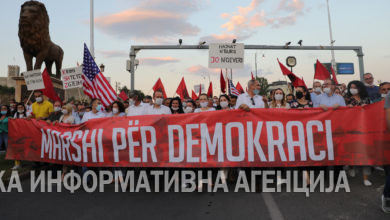 Photo of AA/Alternativa coalition holds protest in Skopje against election fraud