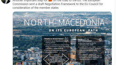 Photo of Žbogar: Another important step for North Macedonia on road to EU