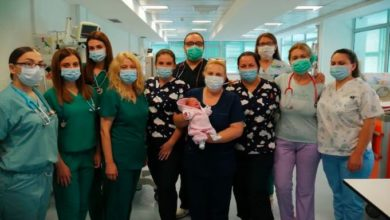 Photo of Baby born weighing 690g heads home after 3 months in NICU