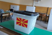 Photo of SDSM leader Zoran Zaev gives statement after voting (embargo until 9 pm)
