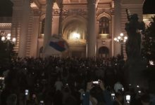 Photo of Return of Covid curfew sparks protest in Belgrade