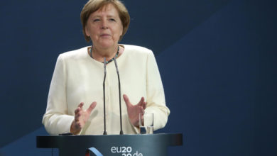 Photo of Merkel says pandemic needs global response, underlines WHO membership