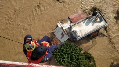 Photo of At least five deaths reported amid flooding in Greece