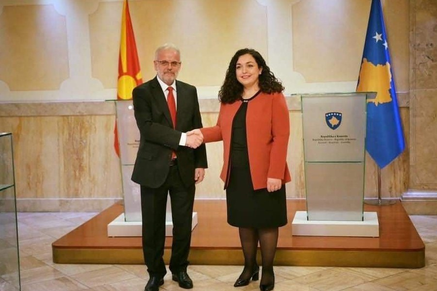 Vjosa Osmani congratulates Talat Xhaferi on his re-election as Speaker – МИА