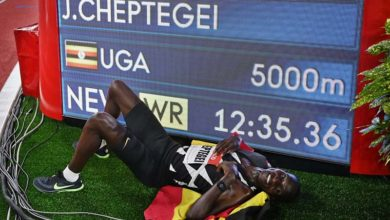 Photo of Cheptegei betters 5,000m world record in Diamond League start