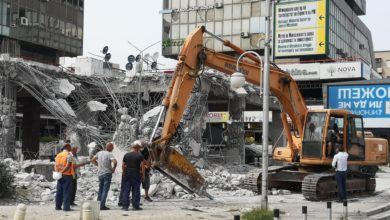 Photo of Illegal construction in downtown Skopje being demolished