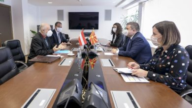 Photo of Justice Minister Marichikj, Austrian Ambassador Woutsas discuss judiciary reforms