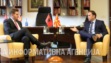 Photo of FM Osmani meets Albanian counterpart Cakaj
