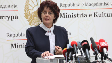 Photo of Culture Minister Stefoska holds press conference