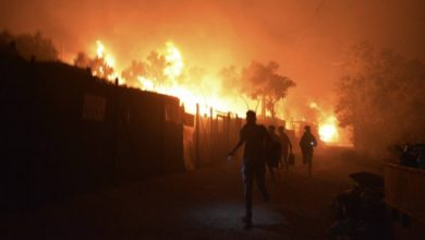 Photo of Reports: Huge fires at Greek refugee camp, residents evacuated