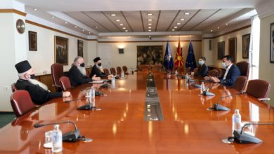 Photo of PM Zaev meets church officials after sending letter to Patriarch Bartholomew