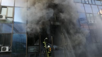 Photo of Fire put out in Skopje building housing SEA and MIA's offices (photos+video)