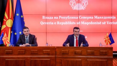 Photo of PM Zaev, Deputy PM Dimitrov hold online meeting with EU's Lajčák