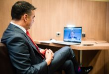 Photo of Deputy PM Dimitrov in video-meeting with EU Commissioner Varhelyi, regional counterparts