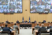 Photo of NATO meeting to discuss N.Macedonia, Albania and Montenegro support in COVID-19 fight