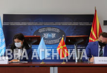 Photo of FM Osmani, UN Resident Coordinator Dudziak sign Sustainable Development Cooperation Framework
