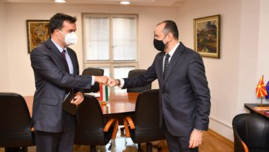 Photo of Deputy PM for Economic Affairs Bytyqi holds meeting with Hungarian Ambassador Dux