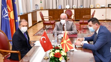 Photo of Parliament Speaker Xhaferi meets Turkish Ambassador Sekizkök