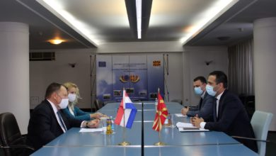 Photo of Transport Minister Bochvarski meets Dutch Ambassador Jan Kop
