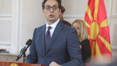 Photo of Pendarovski, Zaev and Filipche give media statements