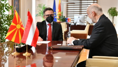 Photo of FinMin Besimi meets Austrian Ambassador Woutsas