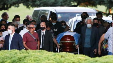 Photo of Argentinian football legend Maradona buried in Buenos Aires