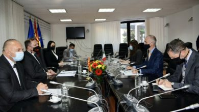 Photo of Interior Minister Spasovski holds meeting with Italian Ambassador Silvestri