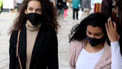 Photo of Over 870 people fined for not wearing face masks