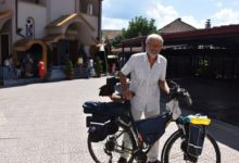 Photo of Trapped by the pandemic, Ukrainian priest is a step closer to reaching Israel with his bicycle