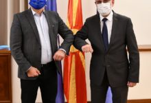 Photo of Speaker Xhaferi meets MEP Schieder