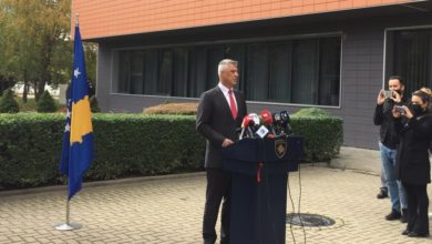 Photo of Kosovo's President Thaci resigns to face war crime trial